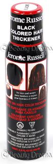 Jerome Russell Spray on Hair Color Thickener Black Thinning Hair Spray