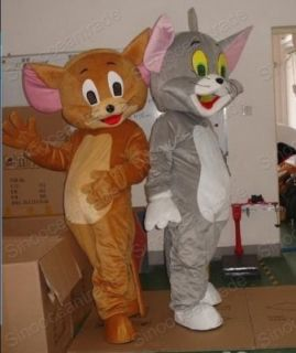 Tom Gatto E Jerry Mouse 2 Adulto Mascotte Costumes EUR