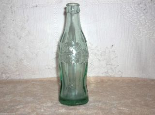 Vintage Coca Cola Green Glass Bottle 11 45 Embossed Miami FLA 6fl Ozs