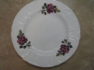 Shelley England Fine Bone China Dinner Plate Red Roses Gold Rim