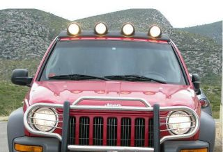 Jeep Liberty 02 07 Renegade Style Light Bar Kit Mopar