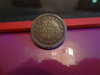 War Store Card Token 13 D Jenkinson Allegheny City Pennsylvania RARE