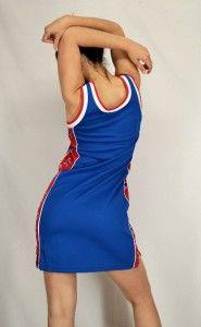 WHITE & BLUE 76ers NBA Basketball Throwback Jersey Cheerleader DRESS