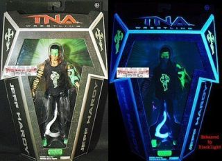 Exclusive Glow in The Dark Jeff Hardy Wrestling Action Figures
