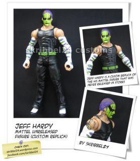 WWE Custom Jeff Hardy Mattel Custom Elite Prototype TNA