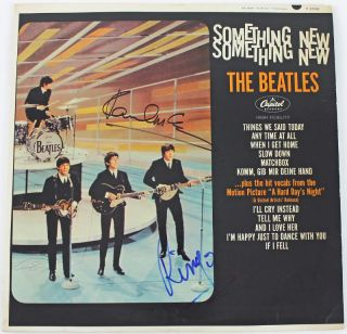 Paul McCartney Ringo Starr Beatles Signed Album Cover w Vinyl PSA DNA