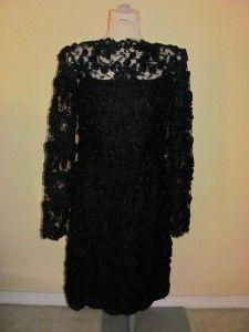 Emma Willis Jermyn Street Black Lace Dress Size Medium