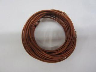 249 Chan Luu New Cognac Multi Leather Strand Wrap Bracelet Copper