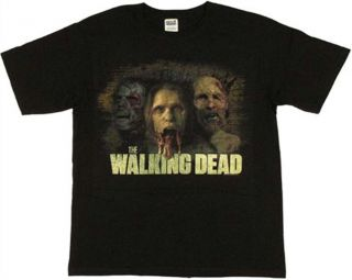 The Walking Dead Trio in Color Distressed T Shirt New s M L XL
