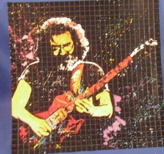 Jerry Garcia Grateful Dead Electric Guitar Blotter Art Greatful J