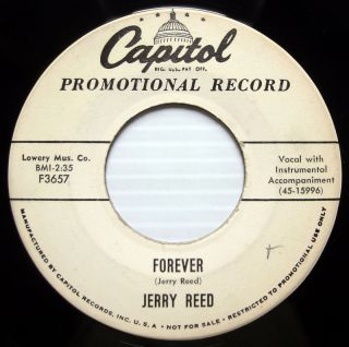 Jerry Reed Promo 45 Forever Capitol Label Country