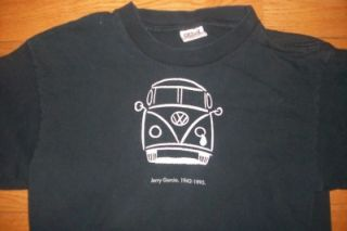 Jerry Garcia 1942 1995 Crying Volkswagen Van Black T Shirt Grateful