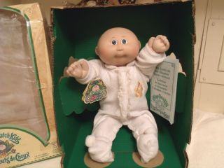 1983 Cabbage Patch Kids Bald Boy Doll Erik Jerald w Box Papers