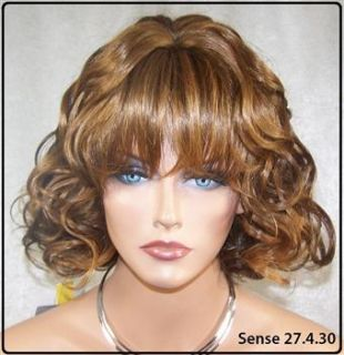 Human Hair Blend Dark Brown with Strawberry and Auburn Color # H4.27
