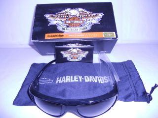 Harley Davidson STONERIDGE Sunglasses Smoke Lens w Carry Case   Brand