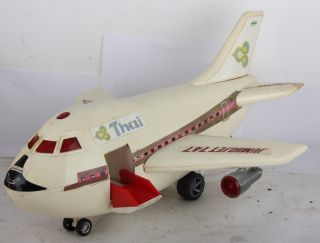 Thai Airways Jumbo 747 toy airplane jet Cheng Ching display vintage