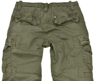 Jet Lag Mens Nisso DK Green Army Cargo Pants 34 x 34 New with Tags