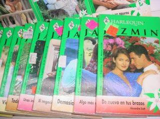25 PB Book Lot Libros de Bosillo En Espanol Harlequin Jazmin Novelas