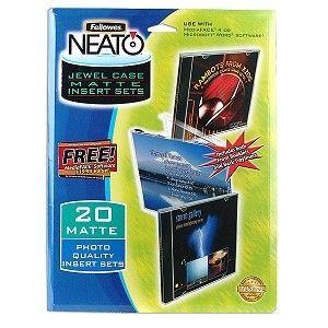 20 Jewel Case Printable Matte Photo Quality Paper CD DVD insert