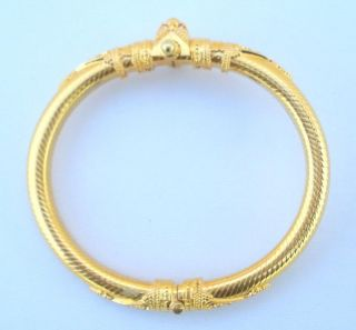 Vintage Antique Solid 22 Carat Gold Bracelet Bangle Rajasthan India BB