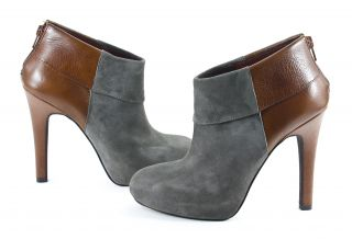 Jessica Simpson Audriana Charcoal Amaretto Suede Leather Boots Shoes 7