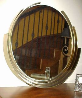 Jere Signed RARE Large Mirror Heavy Brass Sculpture