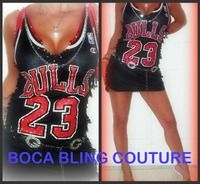 Custom NBA Jersey Dress Chicago Bulls Small Medium 23