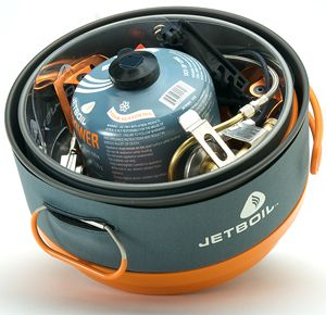 New Jetboil Helios Stove Group Camping Cooking System HEL200