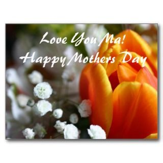 Love You MaHappy Mothers Day Post Card