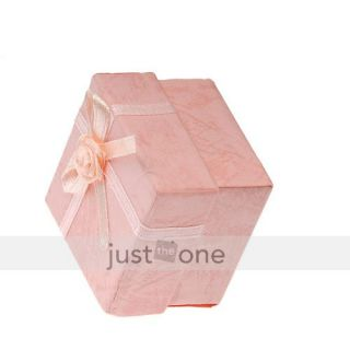 Pcs Jewellery Jewelry Ring Gift Box Case Pink Square