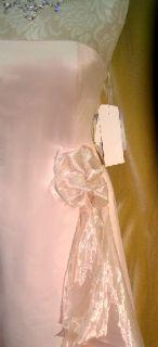 Jessica McClintock Champagne Satin Gown Dress 4