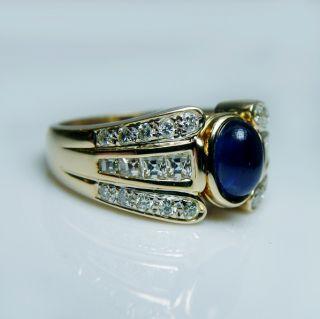 Caldwell Designer Sapphire Ruby Flip Square Diamond Ring 18K Estate