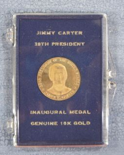 1977 Inaugural Medal Jimmy Carter 39th President 10K Gold 2 6 grams C