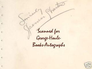 Spencer Charters Autograph 1938 Jesse James