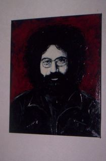 Grateful Dead Jerry Garcia Canvas Painting Art Signed to Hang RARE