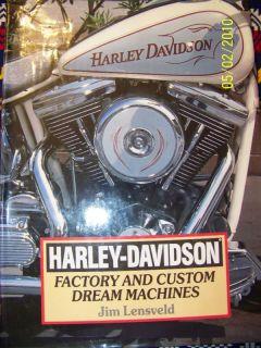 Harley Davidson by Jim Lensveld 1996 Hardcover 1571450300
