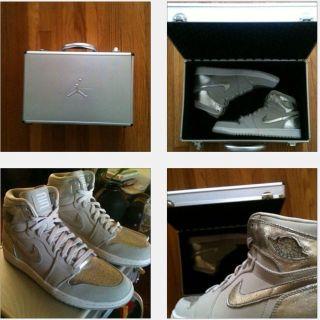 Nike Air Jordan Retro 1 I Silver 25th Anniversary Sz 12 Olympic Bred