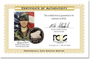 in Military Silver Dollar PCGS American Heroes Signed Jessica Lynch