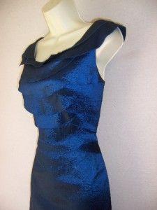 Jessica Howard Blue Taffeta Mother Bride Formal Evening Gown Dress 12P