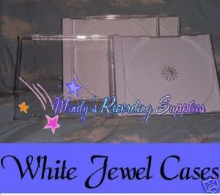 CD Jewel Case Box with White Tray *Holds front & back inserts* 9 pack