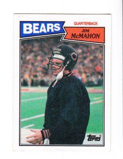 1987 Topps Card 44 Jim McMahon QB Chicago Bears