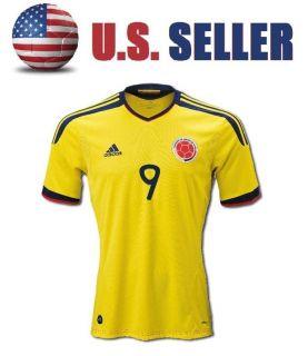Colombia 9 Falcao Soccer Home Jersey Shirt 2011 2012 Sz s M L XL