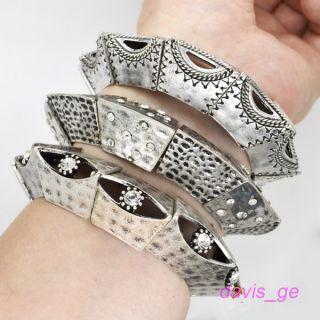 Styles Fashion Punk Vintage Silver Jewelry Elastic Bracelet RAR