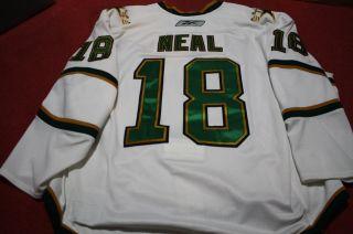 James Neal 1011 Dallas Stars White Set 1 Game Worn Hockey Jersey