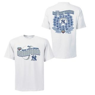 New York Yankees World Champions Jersey Roster T Shirt