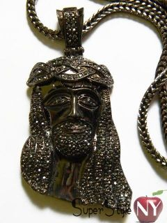 Tone Kanye West Iced Out Jesus Piece Pendant Franco Chain 36