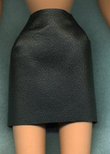 Clothes Jet Black Genuine Leather Short Skirt Linhill Creations