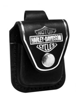 Zippo Lighter Pouch HDPBK Harley Davidson Black Leather New