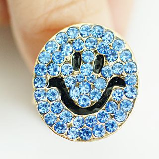Gold Plated Diamante CZ Zircon Cocktail Ring Fashion Jewelry
