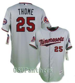 Jim Thome Authentic on Field Minnesota Twins 50th Grey Road Jersey Sz